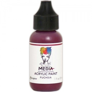 Dina Wakley Media Heavy Body Acrylic Paint - Fuchsia - 1oz