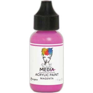 Dina Wakley Media Heavy Body Acrylic Paint - Magenta - 1oz
