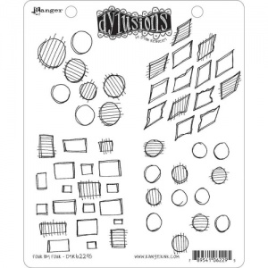 Dylusions Cling Mounted Stamp Set - Four by Four