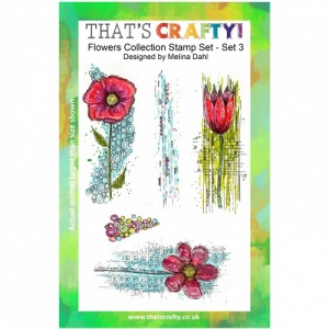 That's Crafty! Clear Stamp Set - Flowers Collection - Set 3