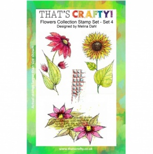 That's Crafty! Clear Stamp Set - Flowers Collection - Set 4