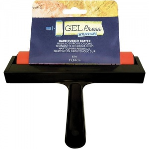Gel Press Rubber Brayer - 6ins