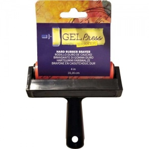 Gel Press Rubber Brayer - 4ins