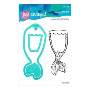 Jane Davenport Artomology Acrylic Stamp Set & Die Set - Mermaid Tail Swatch