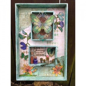 Facebook Workshop with Jo Channon - Mixed Media Shadow Box