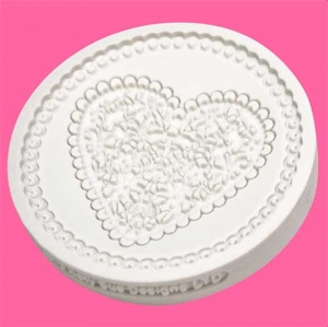 Katy Sue Designs Cupcake Mould - Lace Heart