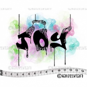 Katzelkraft Unmounted Rubber Stamp - Bleeding Joy Word - SOLO161