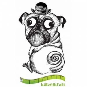 Katzelkraft Unmounted Rubber Stamp - Chien Booly - SOLO082