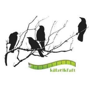 Katzelkraft Unmounted Rubber Stamp - Corbeaux Silhouette - SOLO44