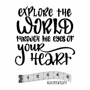 Katzelkraft Unmounted Rubber Stamp - Explore the World