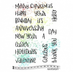 Katzelkraft Unmounted Rubber Stamp Set - Holidays Quotes - KTZ207