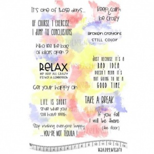 Katzelkraft Unmounted Rubber Stamp Set - Relax Citations  - KTZ222