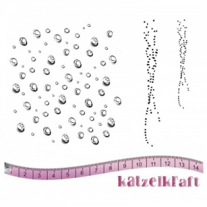 Katzelkraft Unmounted Rubber Stamp Set - Texture Droplets - KTZ147