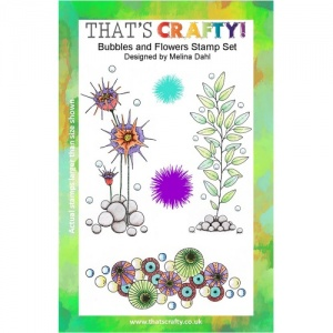 That's Crafty! Clear Stamp Set - Bubbles and Flowers