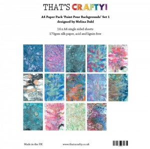 That's Crafty! A4 Paper Pack - Paint Pour Backgrounds Set 1