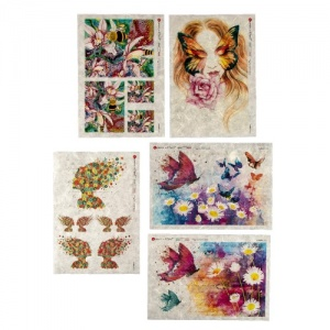 Paper Designs Rice Paper Collection - Butterflies and Bees
