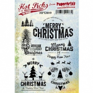 PaperArtsy Cling Mounted Stamp Set - Hot Pick XM09