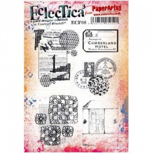 PaperArtsy Cling Mounted Stamp - Eclectica³ - Courtney Franich - ECF08