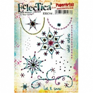 PaperArtsy Cling Mounted Stamp Set - Eclectica³ - Kay Carley - EKC04