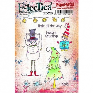 PaperArtsy Cling Mounted Stamp - Eclectica³ - Darcy - EDY25