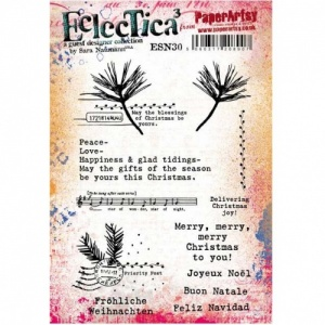 PaperArtsy Cling Mounted Stamp Set - Eclectica³ - Sara Naumann - ESN30