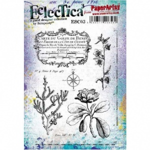 PaperArtsy Cling Mounted Stamp Set - Eclectica³ - Scrapcosy - ESC03
