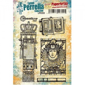 PaperArtsy Cling Mounted Stamp Set - Lynne Perrella Collection - LPC031
