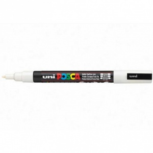 Posca Marker Pen - PC-3M Fine - White