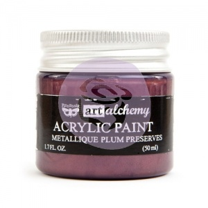 Prima Finnabair Art Alchemy Acrylic Paint - Metallique - Plum Preserves