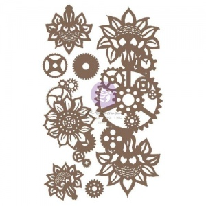 Prima Finnabair Decorative Chipboard - Machine Floral Decors