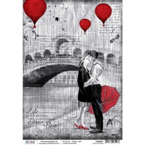 Ciao Bella Rice Paper - Loving in the Rain - Love in Venice - CBR027