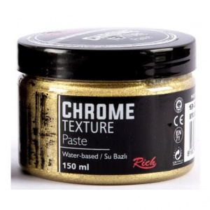 Rich Hobby Chrome Texture Paste - White Gold