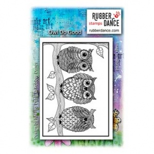 Rubber Dance Unmounted Stamp - Owl Do Good