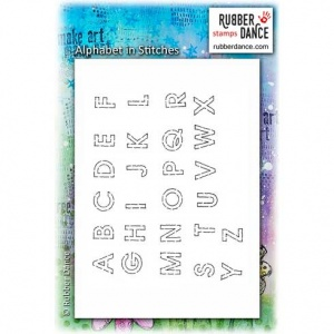 Rubber Dance Unmounted Stamp Set - Alphabet in Stitches