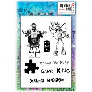 Rubber Dance Unmounted Stamp Set - Game Paperdolls