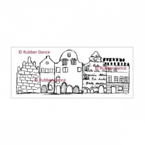 Rubber Dance Unmounted Stamp - Textured House 2nd Row