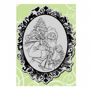 STAMPENDOUS! Cling Rubber Stamp - Classic Santa