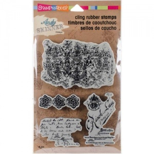 STAMPENDOUS! Andy Skinner Cling Rubber Stamp Set - Textures