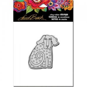 STAMPENDOUS! Laurel Burch Cling Rubber Stamp - Dog Tail