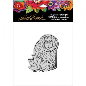 STAMPENDOUS! Laurel Burch Cling Rubber Stamp - Lion