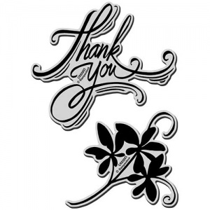 STAMPENDOUS! Jumbo Cling Rubber Stamp Set - Thank You