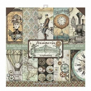 Stamperia Double Sided 12in x 12in Paper Pad - Voyages Fantastique