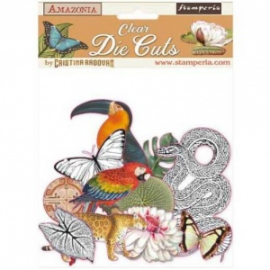 Stamperia Clear Coloured Die Cuts - Amazonia