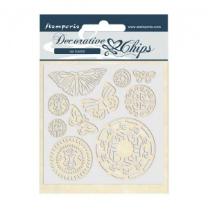 Stamperia Decorative Chips - Amazonia - Butterfly Tribal