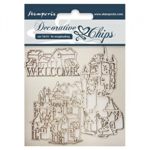 Stamperia Decorative Chips - Welcome