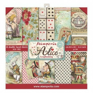 Stamperia Double Sided 8in x 8in Paper Pad - Alice