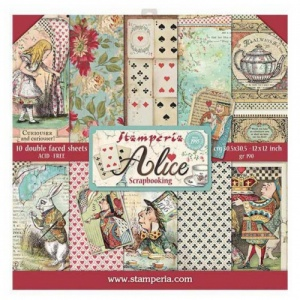 Stamperia Double Sided 12in x 12in Paper Pad - Alice