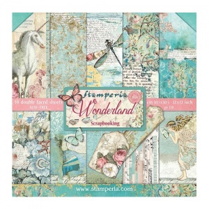 Stamperia Double Sided 12in x 12in Paper Pad - Wonderland