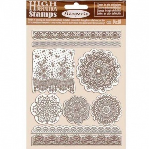 Stamperia Cling Mounted Stamp Set - Passion - Lace