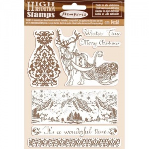 Stamperia Cling Mounted Stamp Set - Winter Time